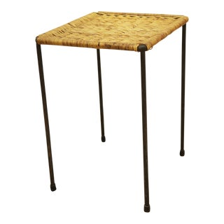 Rattan side table by Carl Auböck For Sale