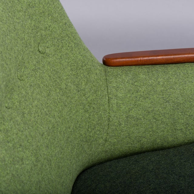 1960s Edgy Danish Reupholstered Green Sofa from CFC Silkeborg, 1960s For Sale - Image 5 of 13