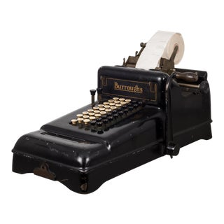 Early 20th Century Antique Burroughs Adding Machine, Circa 1910 For Sale