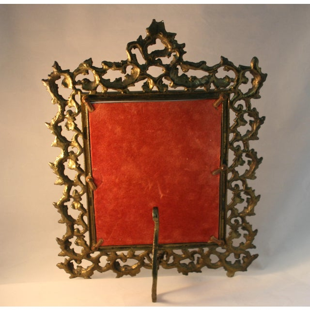 Vintage Brass Rococo Table Top Picture Frame - Image 5 of 6