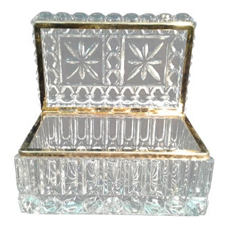 Cut Crystal Ormolu Jewelry Box
