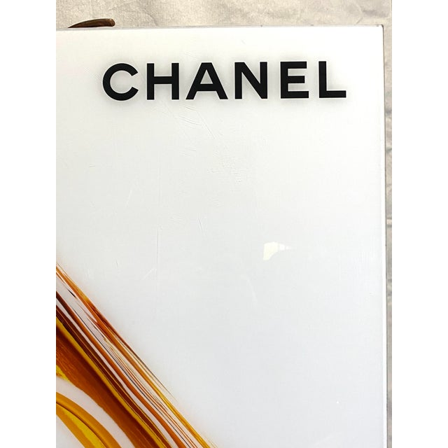Original Chanel Advertising Perfume Store Display Sign Plexi Glass Arcylic Great overall original condition. No chips or...