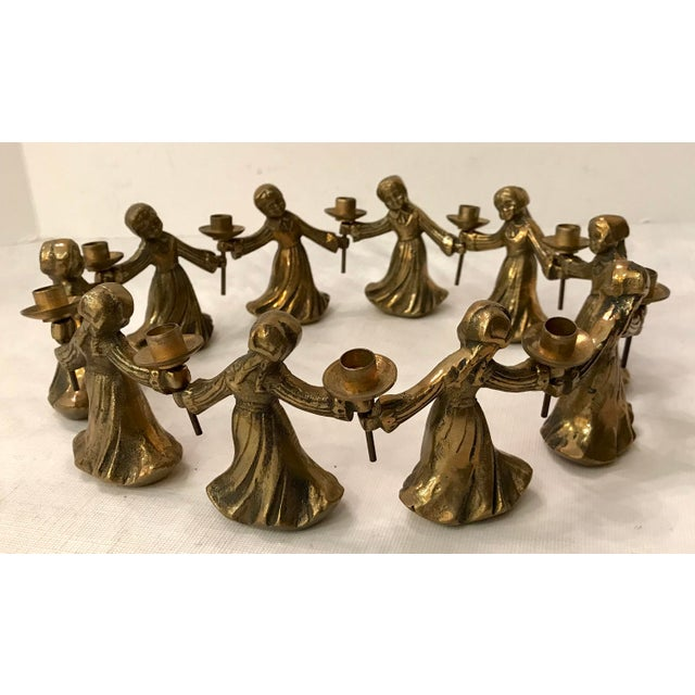 Vintage Ladies Dancing Candle Holders - Set of 10 For Sale - Image 10 of 10