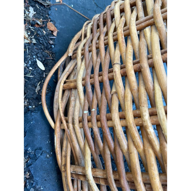 Vintage 1970's Crespi Style Woven Rattan and Bamboo Bar Stools - a Pair For Sale - Image 9 of 13