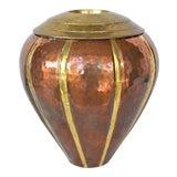 Image of Vintage Copper and Brass Vase For Sale