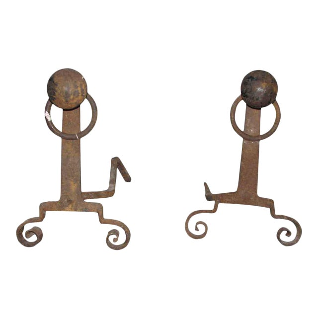 Antique Arts & Crafts Andirons - A Pair - Image 1 of 7