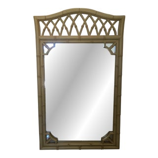 Thomasville Alegro Faux Bamboo Mirror For Sale