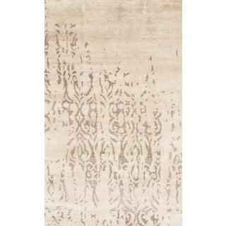 Indo Modern Hand-Knotted Rug-6'x9′ For Sale
