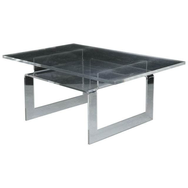Vintage Lucite 2-Tier Coffee Table - Image 1 of 5
