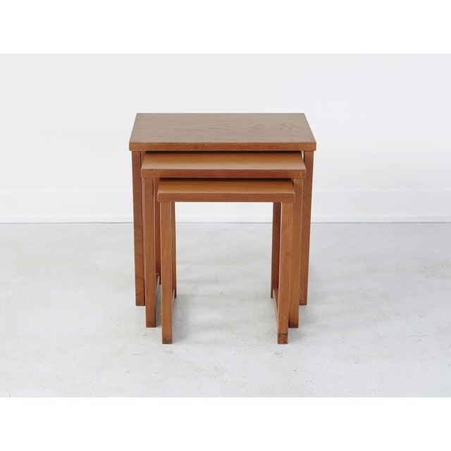 Danish Modern Set of Kai Kristiansen Nesting Tables For Sale - Image 3 of 4