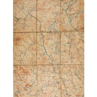 North Creek New York 1897 Us Geological Survey Folding Map For Sale