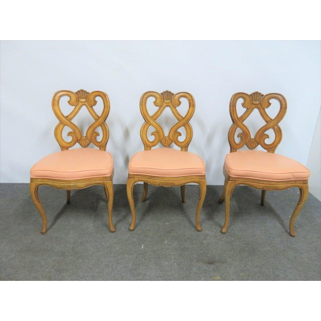Brown Louis XV Style Maple Shell Carved Dining Chairs- Set of 6 For Sale - Image 8 of 10