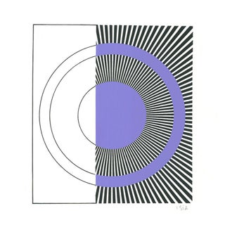 Isia Levian Geometric Composition Silkscreen Print For Sale