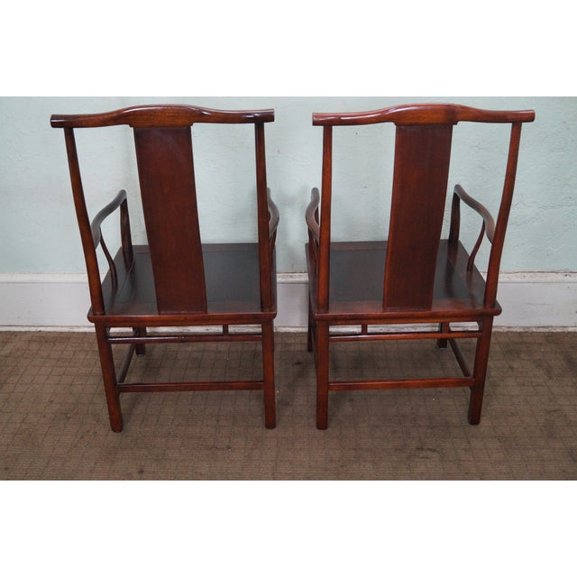 Baker Asian Mahogany Dining Chairs - Set of 8 - Image 10 of 10