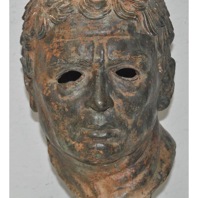 Metal 19th Century Bronze Head After Greek Antiquities For Sale - Image 7 of 10