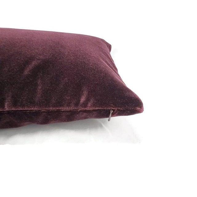 "Transitional Pollack Sedan Plush in Imperial Purple Pillow Cover - 12.5"" X 20"" Dark Purple Velvet Cushion Case For Sale - Image 3 of 6"