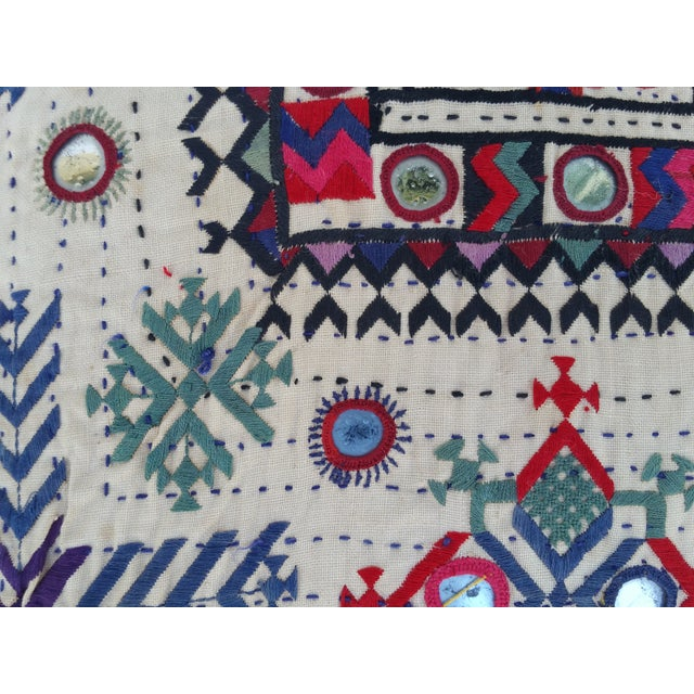 Vintage Banjara Fragment Pillow For Sale - Image 4 of 6