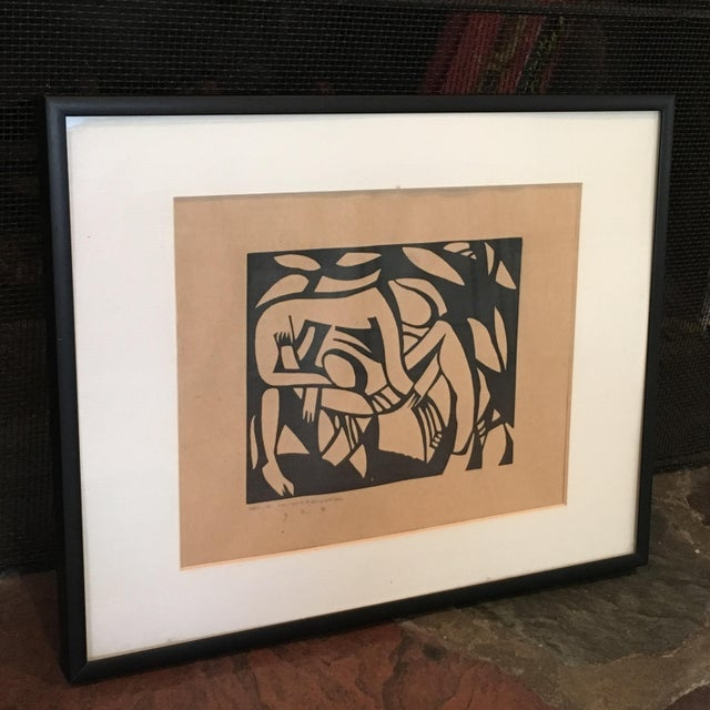 This is a great framed DECORATIVE print with an interesting story! It is believed that while Earl M. Washington...