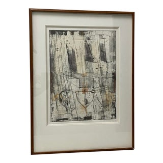 """Modernist Abstract Etching W/ Aquatint Titled """"I Rise A"""" C.1990 For Sale"""
