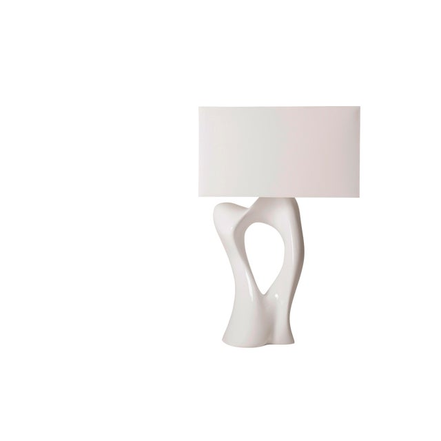 Amorph Vesta White Lacquered Table Lamp For Sale