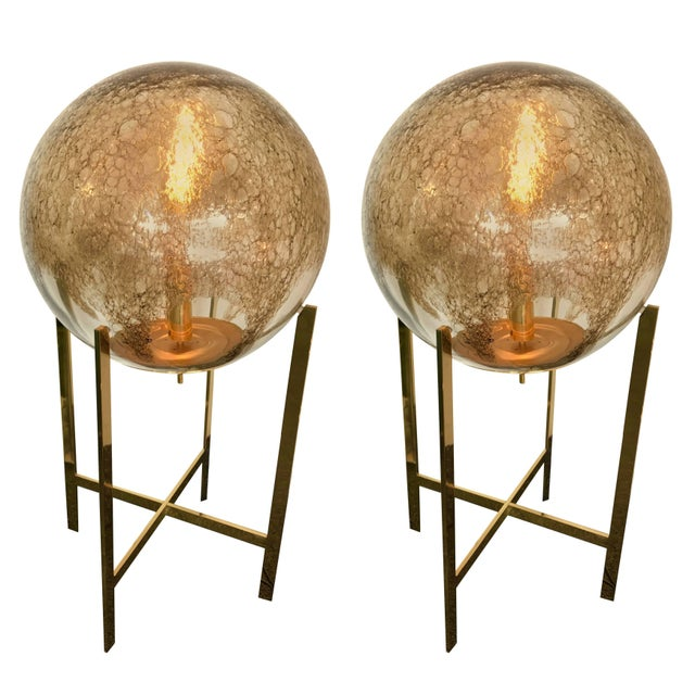 Brass Floor Lamps by La Murrina Murano Glass, Italy, 1990s For Sale - Image 10 of 10