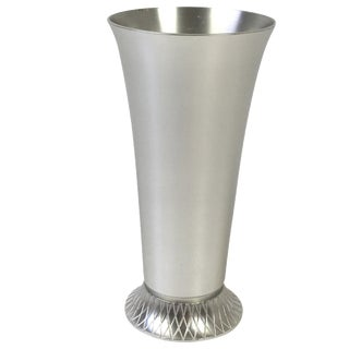 1930s Deco Kensington Aluminum Vase For Sale