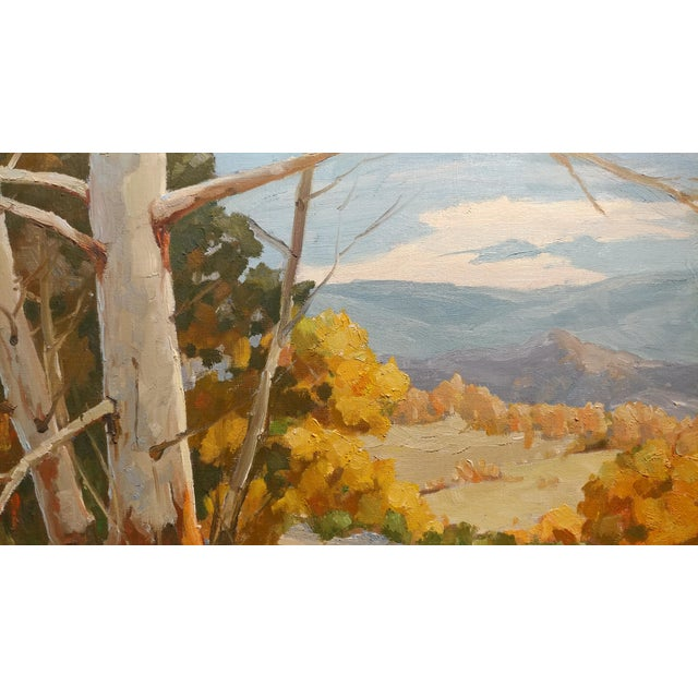 """Victor Matson """"Sycamore Trees"""" California Plein Air Landscape Oil Painting For Sale - Image 4 of 10"""