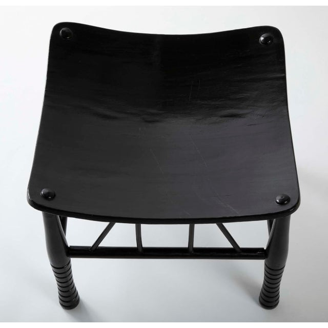 Wood English 19th Century Egyptian Revival Ebony Thebes Stool For Sale - Image 7 of 9