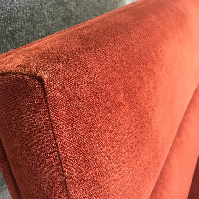 Bright Elana Burgundy Lounge Armchairs - A Pair - Image 6 of 11