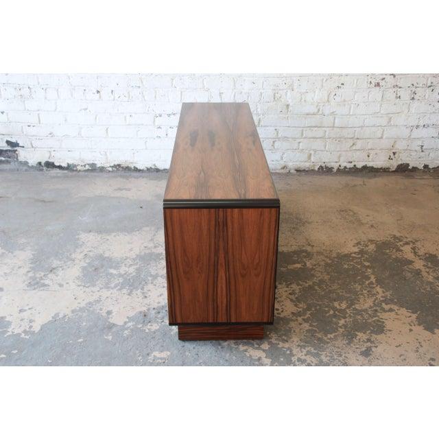 Black Westnofa Scandinavian Modern Rosewood Long Dresser For Sale - Image 8 of 11