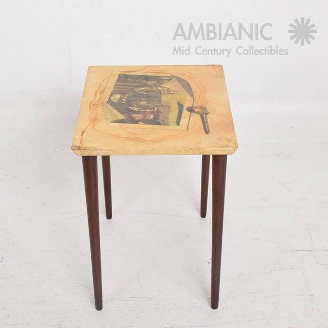 Aldo Tura Italian Mid-Century Aldo Tura Side Table For Sale - Image 4 of 8