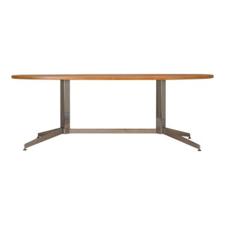 Mid-Century Modern Olive Wood Burl Conference or Dining Table For Sale