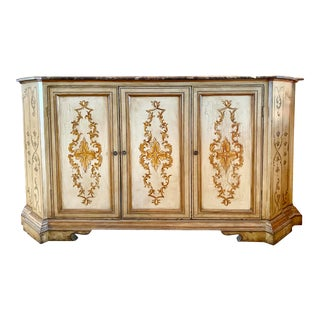 Minton Spidell Venetian Credenza Sideboard Buffet W Marble Top For Sale