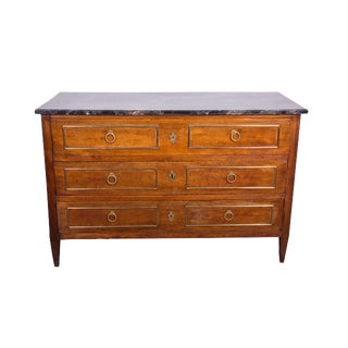 19th Century Continental Commode with Faux Marble Top
