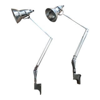 Vintage George Cawardine Anglepoise Wall Mounted Lamps - A Pair