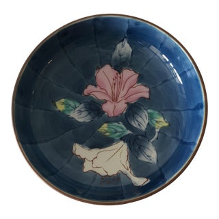 Small Round Chinese Export Trinket Dish or Coaster For Sale