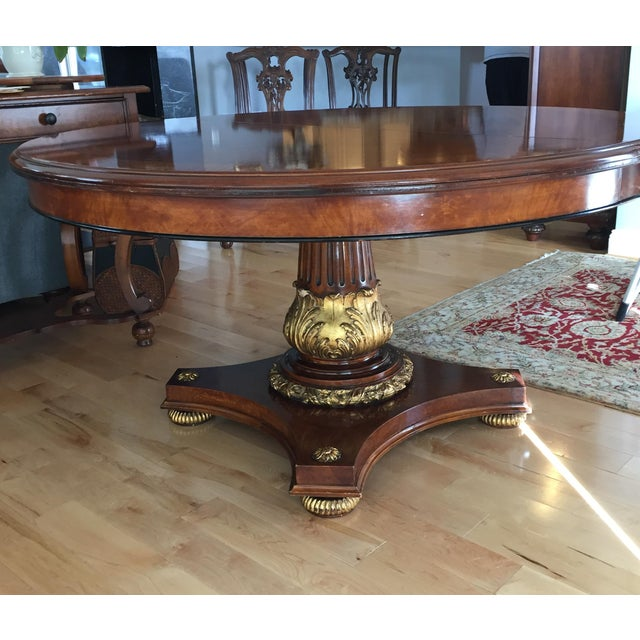 Italian Briar of Myrtle With Satinwood Banding Custom Dining Room Table