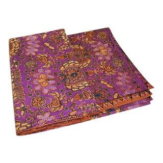 Vintage Batik Javanese Kaleidoscope Textile