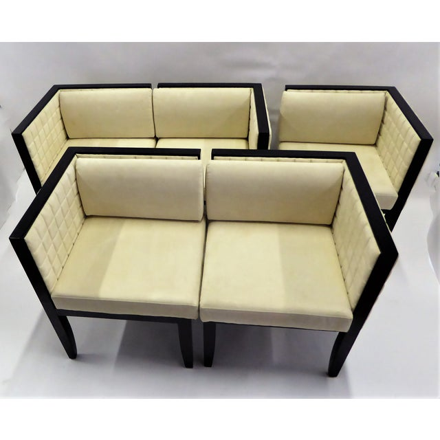 1990s Pietro Costantini Quilted Ultrasuede Yale Armchairs - a Pair For Sale - Image 11 of 12