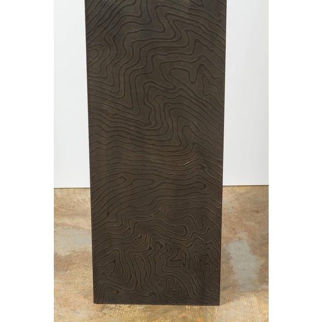 Paul Marra Paul Marra Textured Steel Solitaire Floor Lamp For Sale - Image 4 of 8