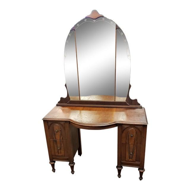 1930s Vintage Art Deco Vanity For Sale