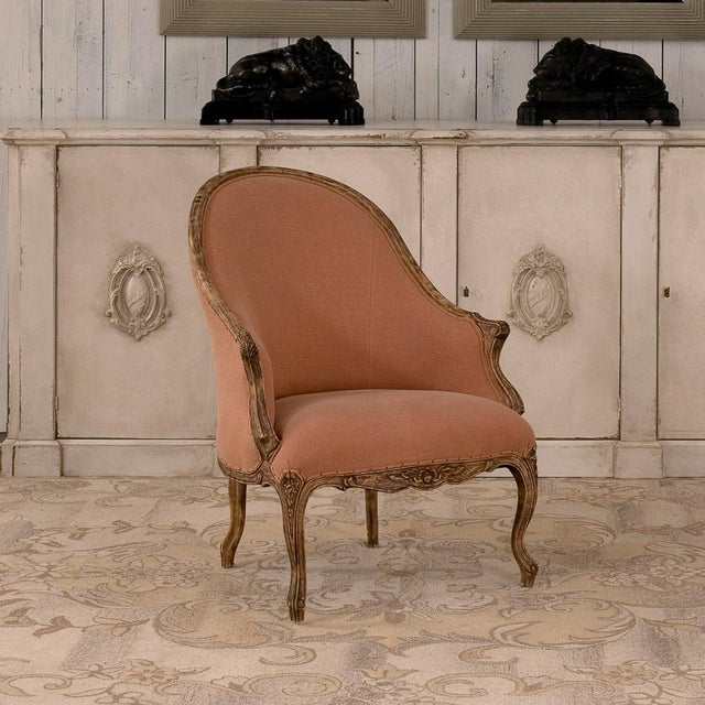 Early 21st Century Sarreid Ltd Old Red Chalais Tub Chair For Sale - Image 5 of 6
