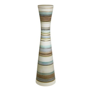 Sascha Brastoff Mid-Century Tall Abstract Original Vase