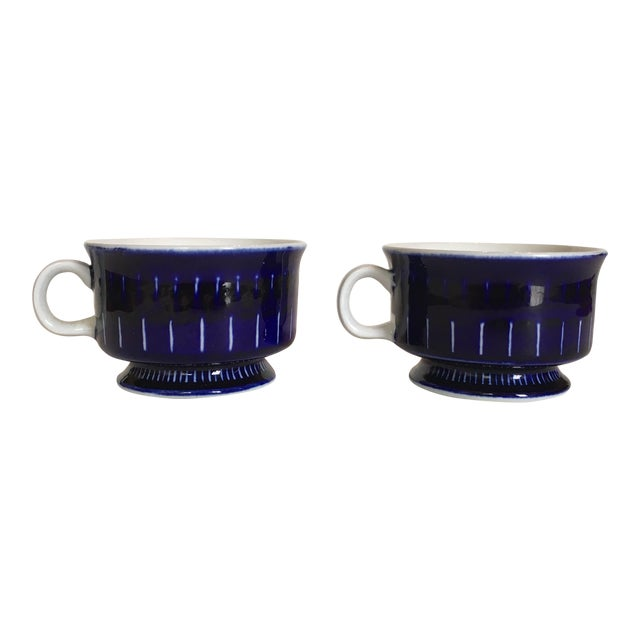 Arabia of Finland Valencia Coffee Cups - Pair For Sale