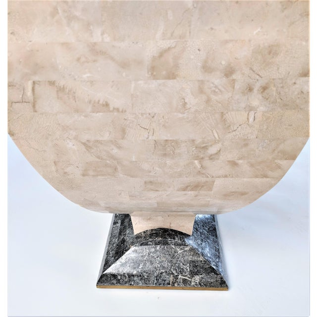 1970s Mid-Century Modern Maitland Smith Tessellated Stone Console or Center Table For Sale - Image 9 of 13
