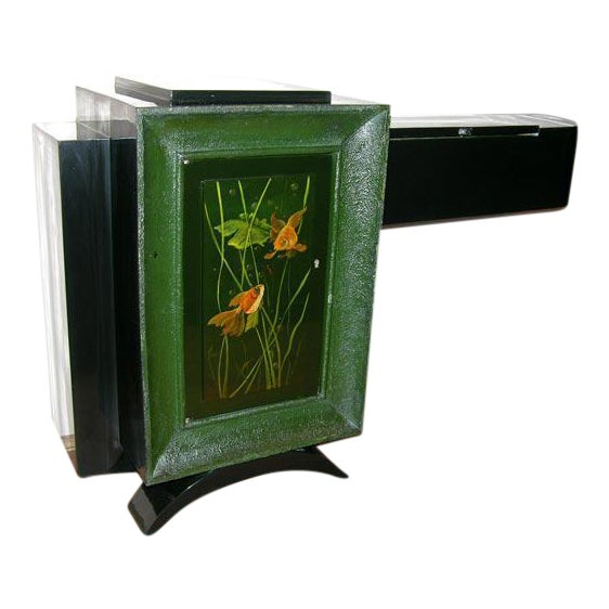 French Art Deco Low Cabinet by René Drouet and Gaston Suisse For Sale