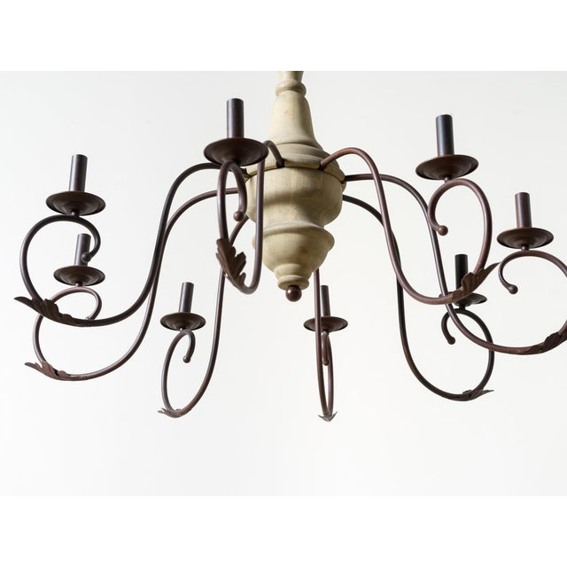 Contemporary Marin Wooden Chandelier For Sale - Image 4 of 5
