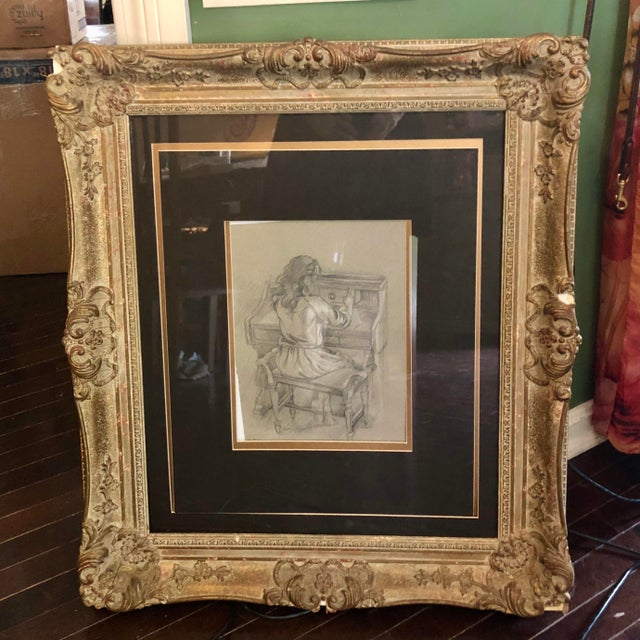 Brass 1920s Antique Baroque Frame For Sale - Image 8 of 8