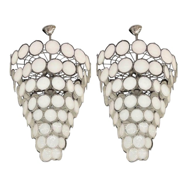 Pair of Mid-Century Modern Style Murano Glass Chandelier For Sale