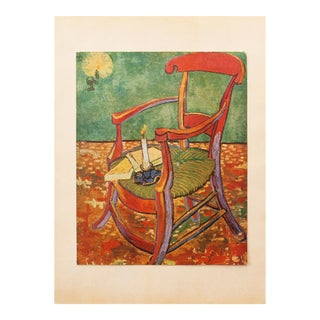 "C.1940s Van Gogh, ""Gauguin's Armchair"" Parisian Lithograph For Sale"